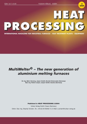 The new generation of aluminium melting furnaces - Jasper GmbH
