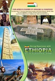 ethiopia at a glance - Indo-African Chamber of Commerce & Industries