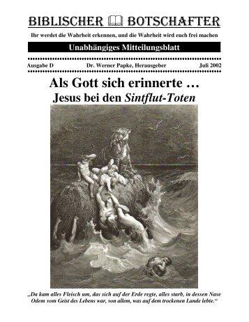 Als Gott sich erinnerte - Dr-Papke.de