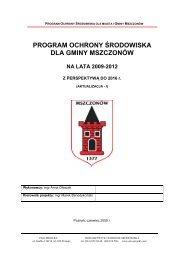 program ochrony środowiska dla gminy mszczonów - BIP ...