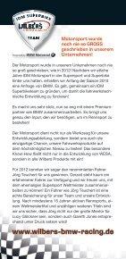 Teampartner 2012 www.wilbers-bmw-racing.de - Seite 4