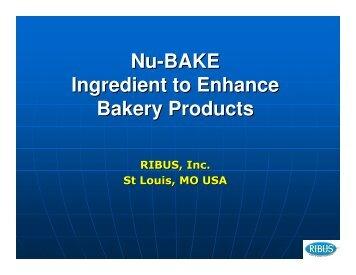 Nu-BAKE Ingredient to Enhance Bakery Products - RIBUS