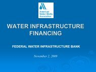 Federal Water Infrastructure Bank