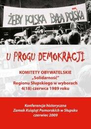 U PROGU DEMOKRACJI - Powiat Słupski