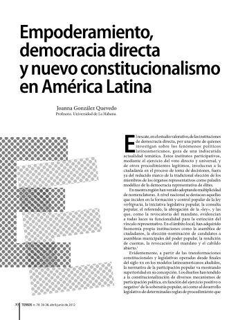 Empoderamiento, democracia directa y nuevo ... - Temas