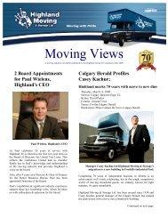 Calgary Herald Profiles Casey Kachur - Highland Moving