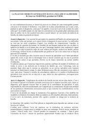 LA PLACE DU MEDECIN GENERALISTE DANS ... - CHU de Rouen