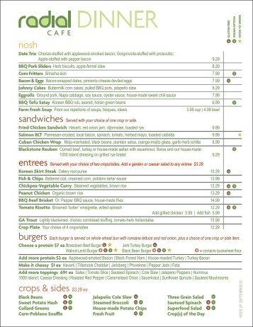nosh crops & sides $3.29 ea - Radial
