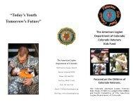 Colorado Veterans Kids Fund Brochure - The American Legion ...