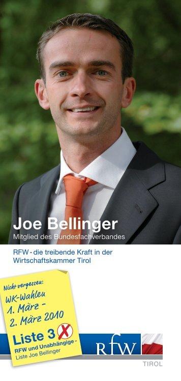 Joe Bellinger - Hart am Wind - rfw-tirol.com