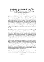 Jazz, Democracy, and the Creation of a New ... - David R. Adler