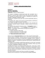 Resposta a recursos de gabaritos - MSM Consultoria