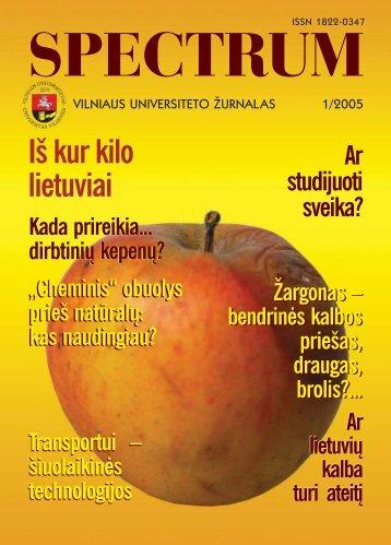 PDF versija - VU naujienos - Vilniaus universitetas
