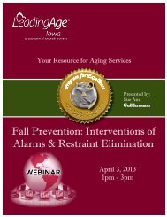 Fall Prevention: Interventions of Alarms & Restraint Elimination