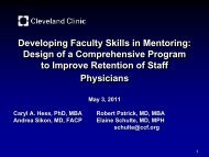Developing Faculty Skills in Mentoring - Academic Pediatric ...