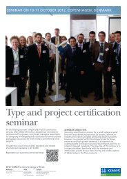Type and project certification seminar - DNV