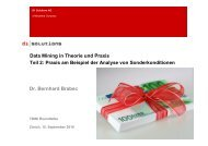 Data Mining in Theorie und Praxis Teil 2: Praxis ... - d1-solutions.com