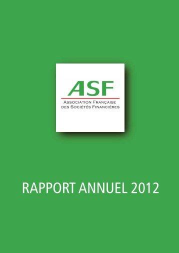 2012 Le rapport annuel de l'ASF