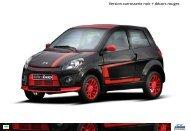 Version carrosserie noir + décors rouges
