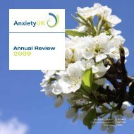 2009 Anxiety UK Annual Report