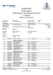 STARTLISTE Riesenslalom RSG Dornbirn / SC Rheintal Cup 2013 ...