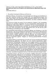 Die politische Arbeit und Probleme der ... - aggi-info.de