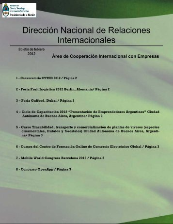 Boletín Febrero 2012 - SICyT