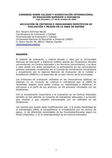 congreso sobre calidad y acreditación internacional en ... - Reposital
