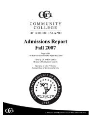 CCRI - Rhode Island Board of Governors for Higher Education