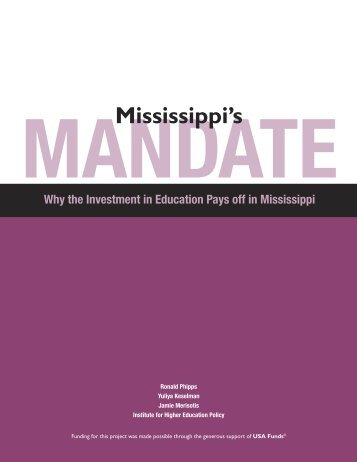 Mississippi's Mandate - ERIC