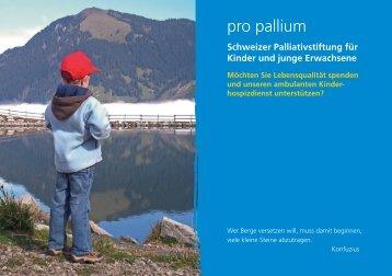 Flyer pro pallium stiftung