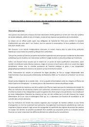 Position du CNUE en réponse au Livre vert « Vers des systèmes de ...