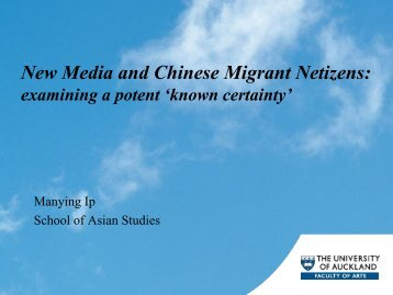 New Media and Chinese Migrant Netizens: - Integration of ...
