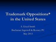 Lloyd Smith Presents on U.S. Trademark Oppositions in London, UK