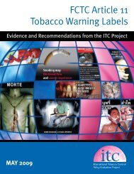 FCTC Article 11 Tobacco Warning Labels - International Tobacco ...