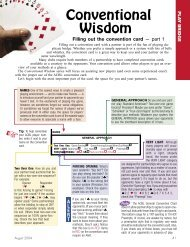 Conventional Wisdom (how to fill out the ACBL ... - Marvin French
