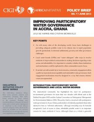 improving participatory water governance in accra, ghana