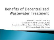 Benefits of Decentralized Water Wastewater System