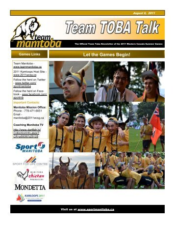 Team Toba Talk - August 6, 2011 - Sport Manitoba