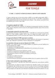 Fiche technique LOGEMENT – Mars 2013 – Fédération nationale ...