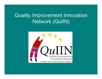 Quality Improvement and Innovations Network perspective
