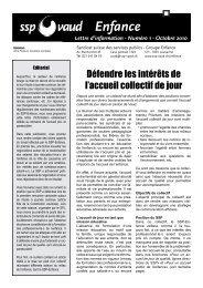 Enfance - SSP - Vaud / Syndicat des services publics