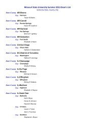 Missouri State University summer 2013 dean's list (sorted by ... - News