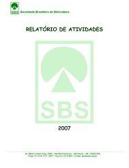 relatório de atividades 2007 - Sociedade Brasileira de Silvicultura