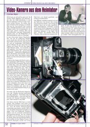 Video-Kamera aus dem Heimlabor - PCNews