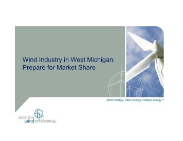 Wind Industry in West Michigan - Michigan Local Government ...
