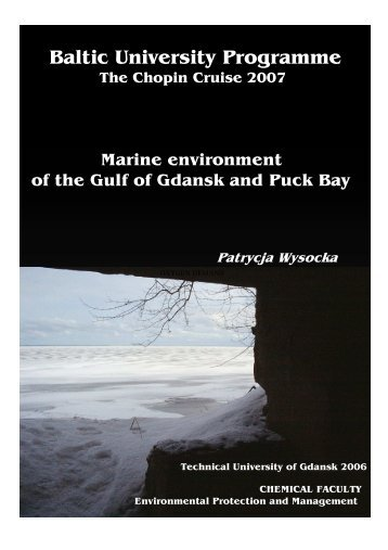 Marine Environment of the Gulf of Gdansk and Puck Bay
