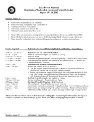Lake Forest Academy Registration Weekend & Opening of School ...