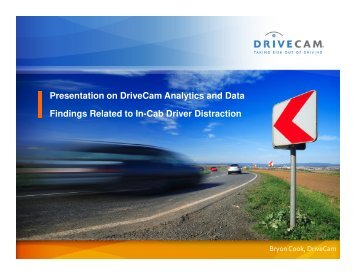 Presentation on DriveCam Analytics and Data Findings ... - MCSAC