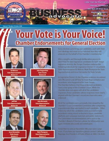 Your Vote is Your Voice! - Tempe Chamber of Commerce